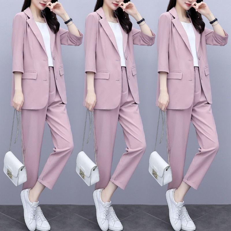 西裝外套女2020新款韓版氣質時尚女士職業裝網紅西服套裝