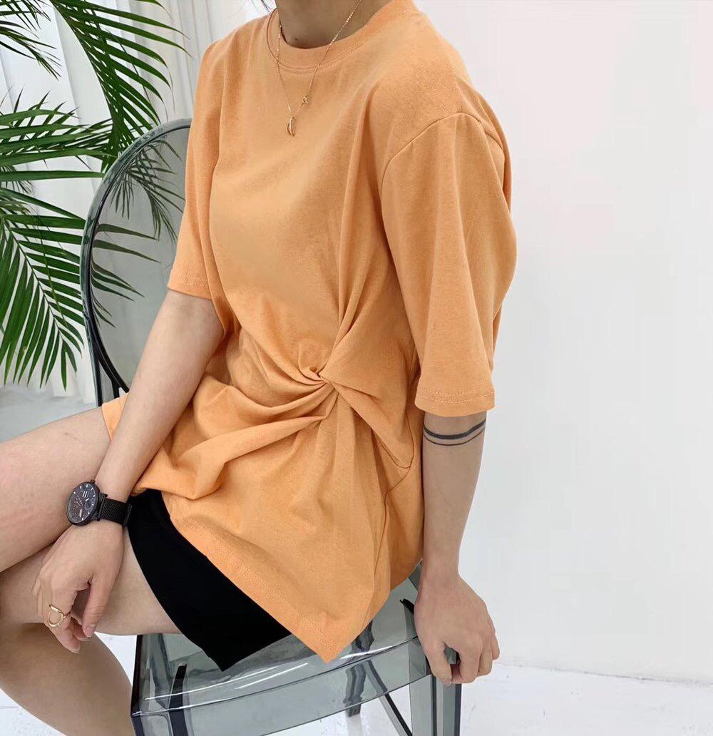 纯棉纯色短袖t恤女夏季衣服2021年新款韩版宽松半袖白色上衣ins潮