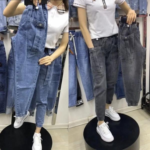 KY6970#大码弹力高腰牛仔裤女 胖mm春秋2021新款胖妹妹小脚九分裤...