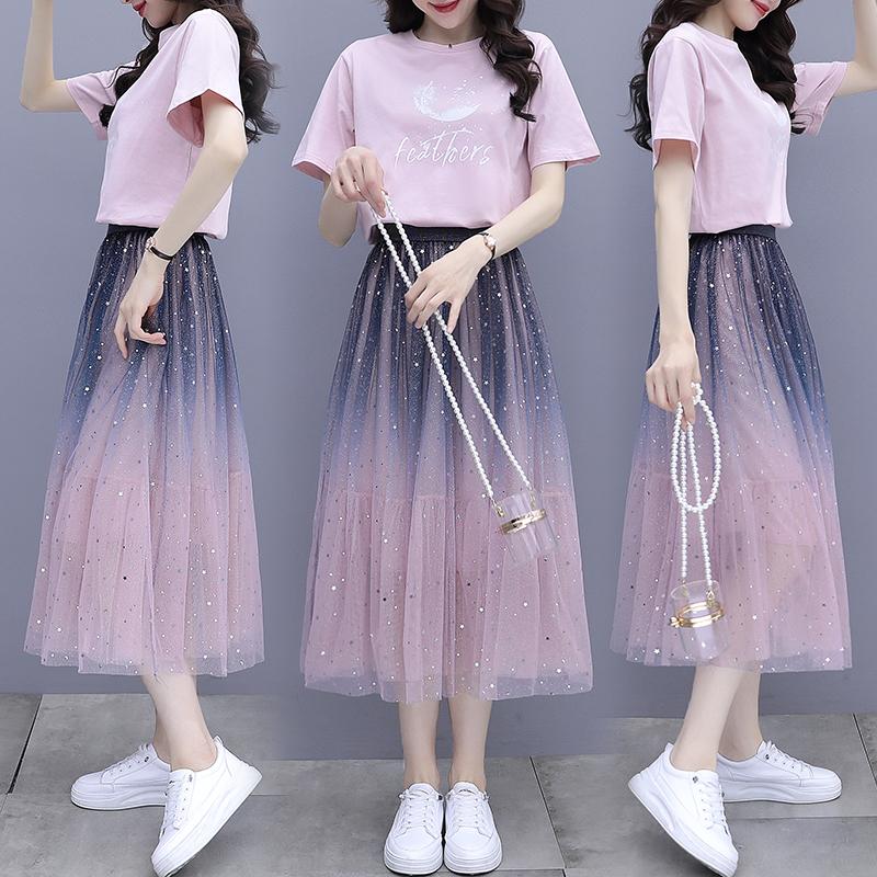 裙子套装2021女夏...
