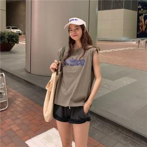 KY7579#韩版圆领宽松大码字母印花ins短袖T恤女