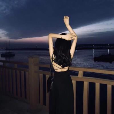 2021韩版超仙无袖吊带裙夏季复古桔梗智熏中长款连衣裙