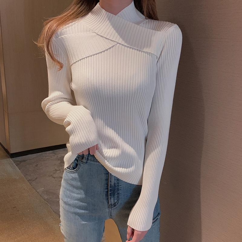 质检官图2021春装新款设计感上衣打底毛衣女春秋洋气针织衫