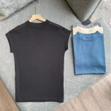 2021春夏新款纯色气质打底衫女短袖