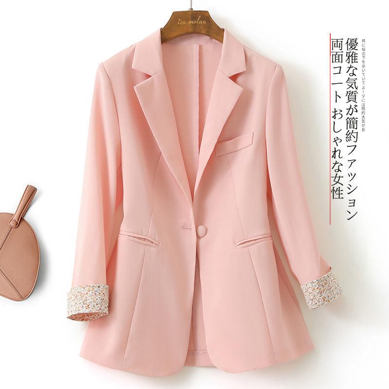 薄款七分袖小西裝外套女2021新款夏季韓版顯瘦修身簡約風西服外套