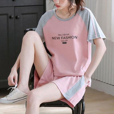 运动套装女夏季2021新款时尚宽松韩版短袖短裤减龄显瘦休闲两件套