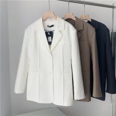 THEHANDLE/lunar西装套装女夏季西服上衣+性感抹胸连衣裙 两件套