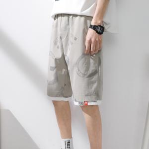 RS29524#短裤男士薄款夏季新款日系潮流宽松直筒休闲潮牌工装5五分裤