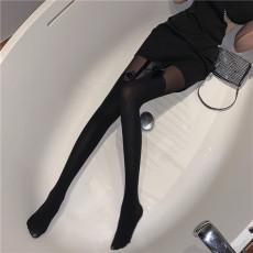 实价实拍性感蝴蝶结长筒袜连裤袜黑丝袜百搭名媛