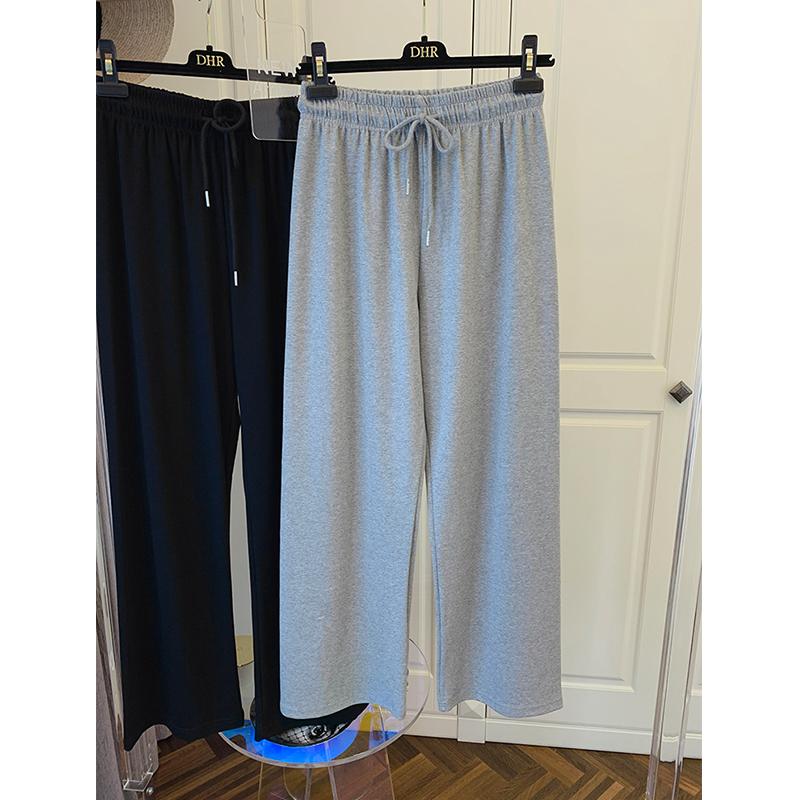特價K807#官圖 (290克定制好面料)寬松運動褲闊腿褲顯瘦衛褲ins