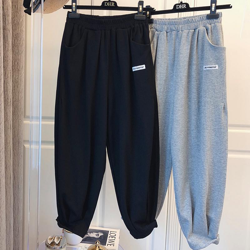 特價K808#官圖 (290克定制好面料)寬松運動褲蘿卜褲顯瘦衛褲ins