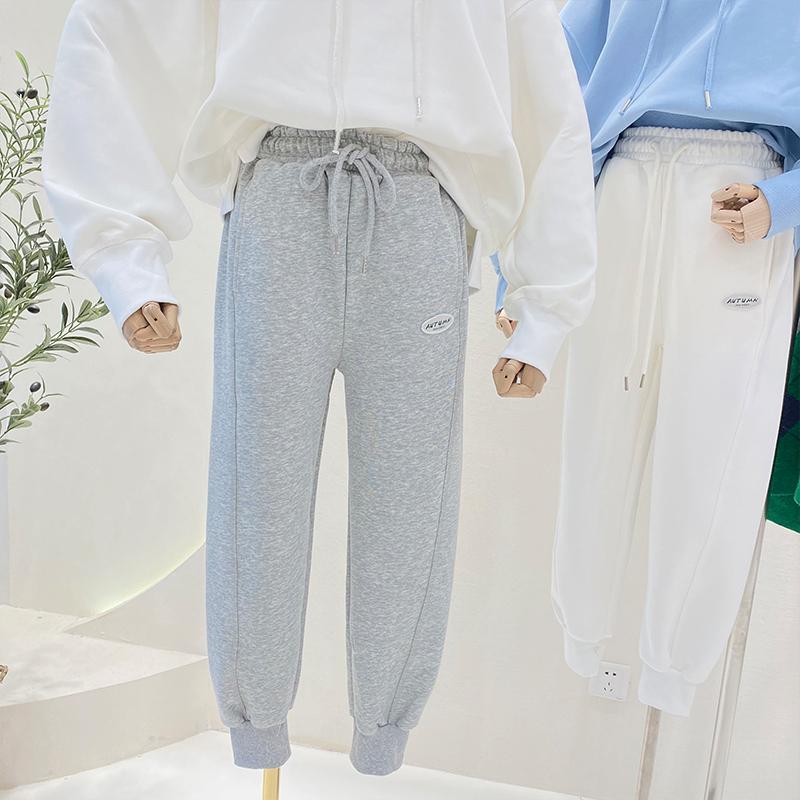 特價K811#官圖(290克定制好面料)寬松顯瘦松緊腰運動休閑束腳褲