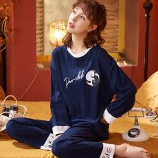艾尚实拍2021年睡衣新款简约韩版时尚气质家居服套装