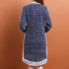 实拍~~针织连衣裙女秋冬2021新款宽松显瘦气质中长款打底毛衣裙子