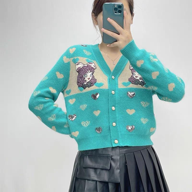 2021春秋新款女装洋气针织两件套可盐可甜时尚休闲运动炸街套装女