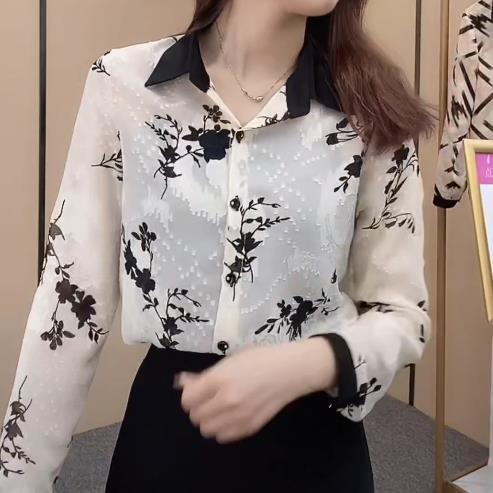 設計感氣質時尚襯衫女2021年秋季簡約百搭新款寬松顯瘦減齡上衣