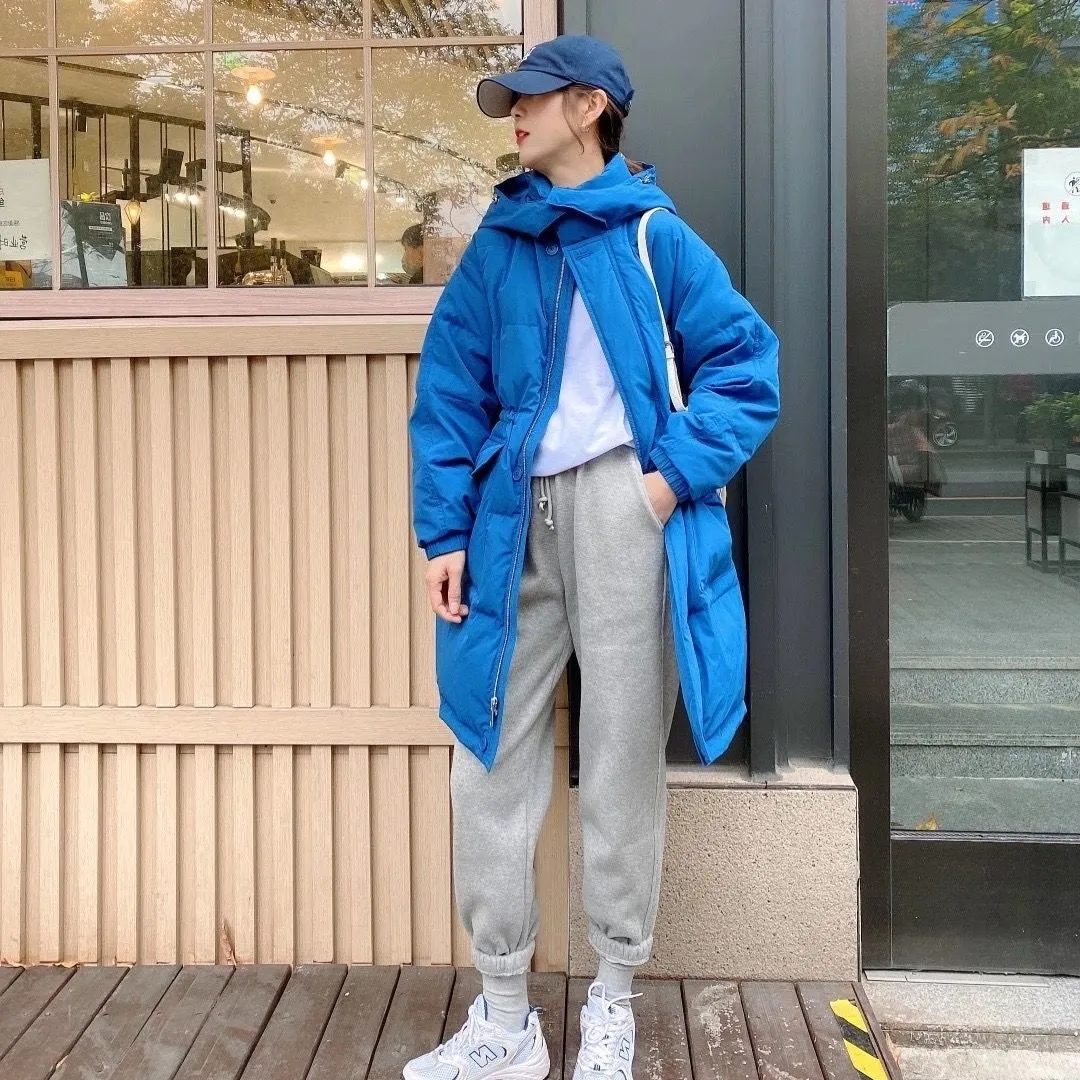 白鴨絨冬季中長款羽絨服女韓版氣質顯瘦保暖學生外套