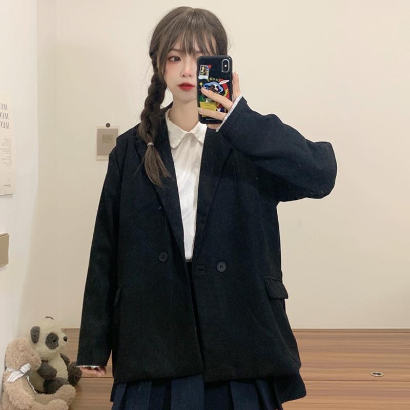 三標齊! 實拍實價! 西裝外套新款韓版小個子西服休閑網紅上衣女