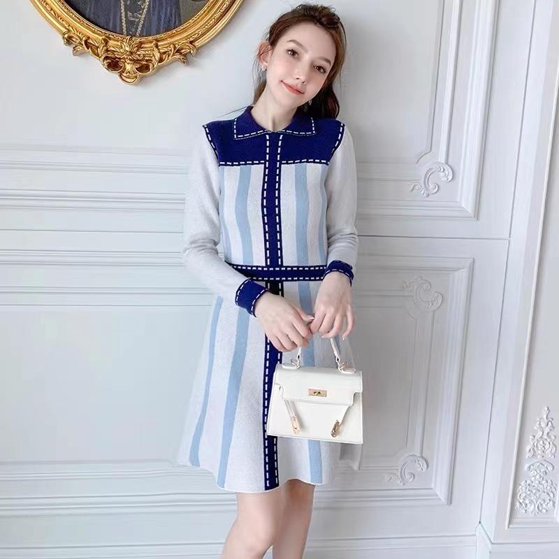 早秋polo連衣裙2021年新款女顯瘦減齡洋氣小個子秋裝時尚女裝秋款