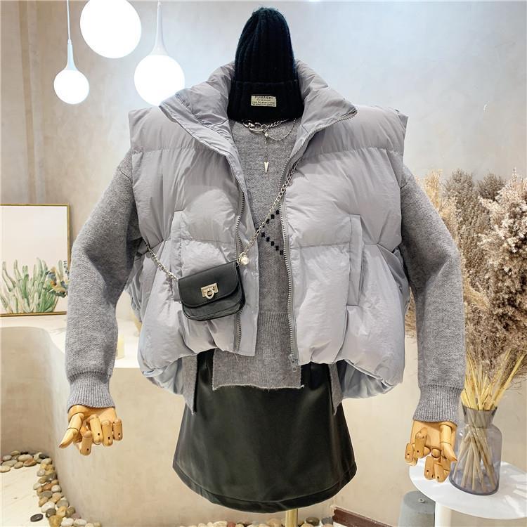 棉服馬甲女秋冬百搭短款韓版寬松外穿不規則馬夾外套潮
