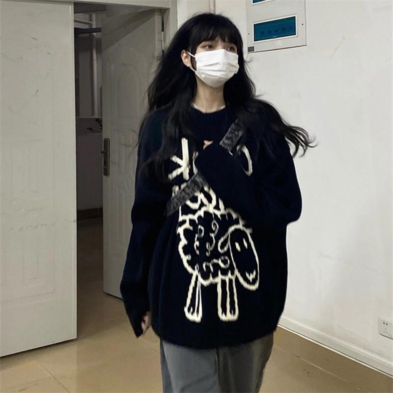 特價D3170#官圖實價290克定制毛圈面料2021秋季卡通印花長袖衛衣