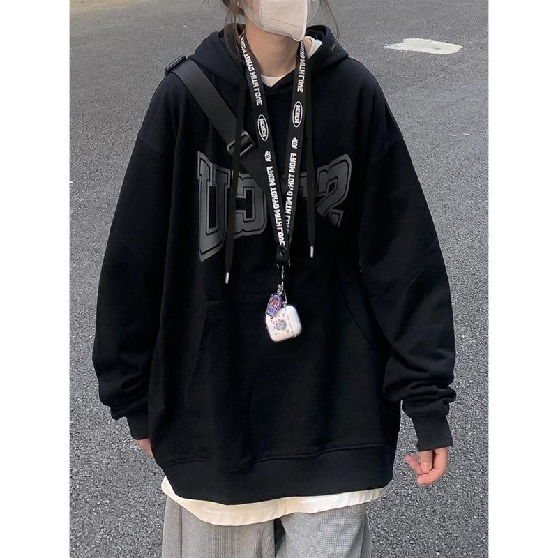 特價D3361#官圖實價290克定制毛圈面料2021秋季連帽字母印花衛衣