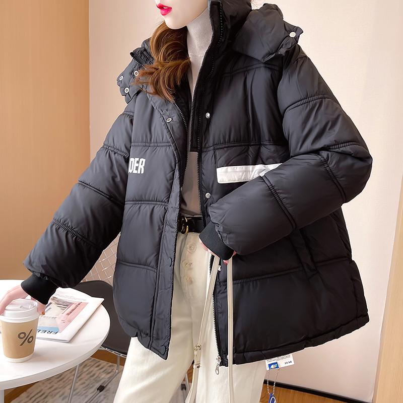 M007#實拍實價 2021冬裝新款加厚保暖棉服女寬松棉衣拉鏈長袖外套
