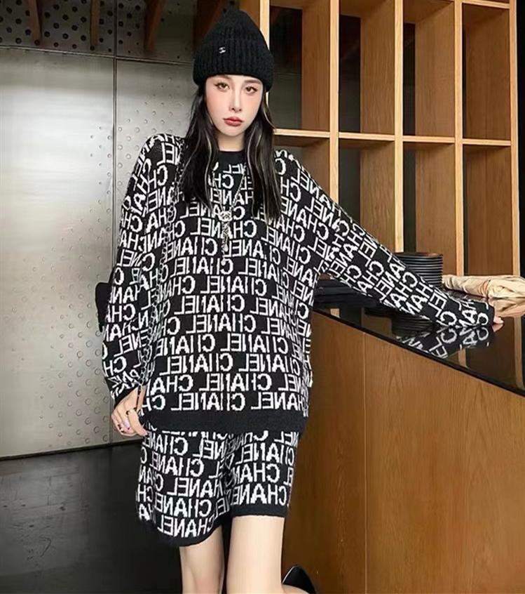 小香针织衫套装2021年新款女春秋季休闲时尚裤装两件套女洋气减龄