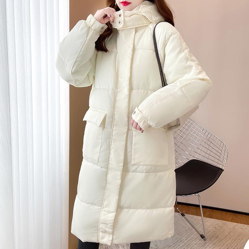 M018#實拍實價 加厚保暖棉服2021冬裝寬松棉衣中長款拉鏈長袖外套