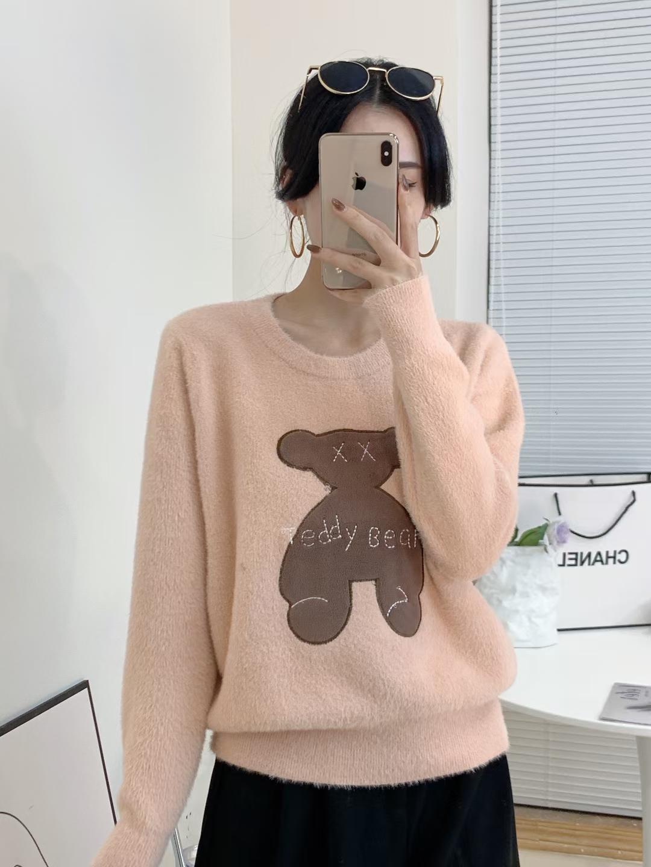 欧洲站卡通圆领套头个性时尚卫衣女2021秋冬季新款慵懒风上衣百搭