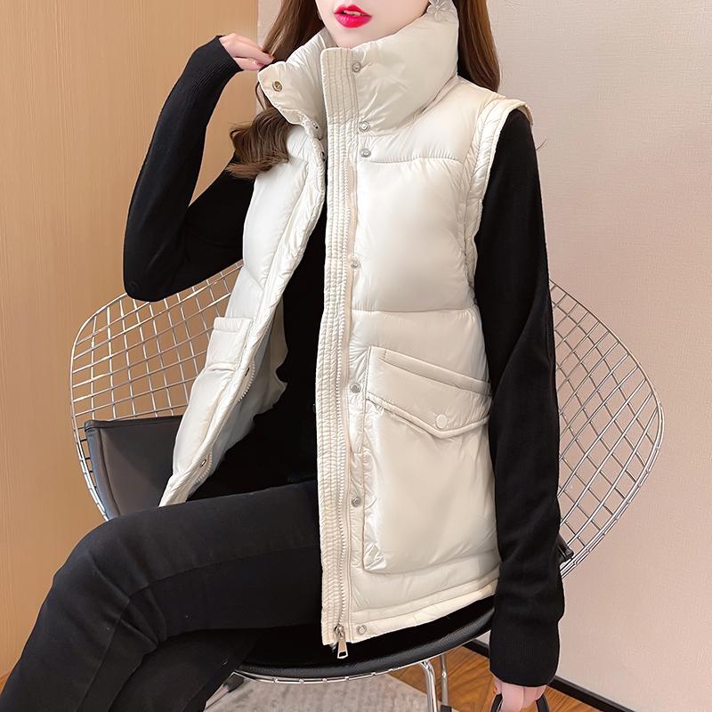 M020#实拍实价 加厚保暖棉服2021冬装宽松棉衣拉链立领马甲外套