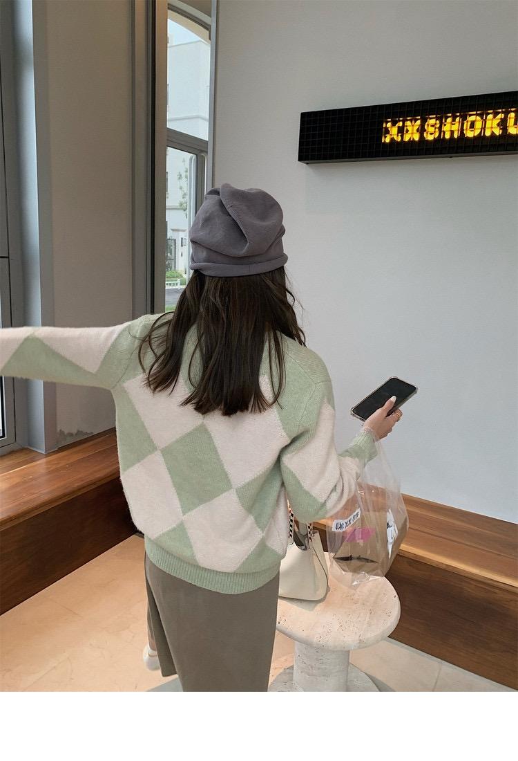 毛衣復古慵懶新款韓版寬松設計感小眾早秋v領針織衫外套女