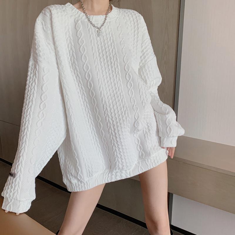 韓系泡泡棉寬松版休閑衛衣