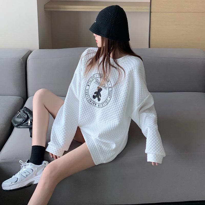 韓國泡泡棉寬松版休閑衛衣