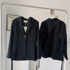 THE HANDLE 时髦的斗篷西装!好穿的BLAZER 秋季修身女中长款系带